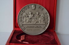 France - Medal 'Banque de France 1800-1950' attributed to André Lafond - Silver