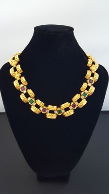Givenchy vintage gold plated  haute couture necklace