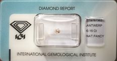 Natural Fancy Light Brown-Pink Diamond 0.15 ct  with IGI cert *** no minimum price***