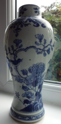 Blue and white vase - China  - Qianlong  period  ( 1735/1796 )