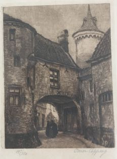 Omer Coppens (Duinkerke, 1864 - Elsene, 1926) - Untitled etching - signed