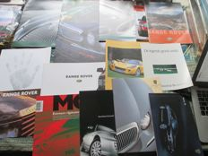 Automobile brochures (Jaguar/Land Rover/Rover/MG, 18x, 1986-2005)