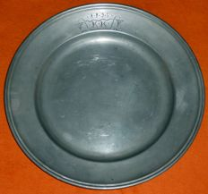 Large round pewter platter, Königsberg, formerly Germany (Prussia), today Kaliningrad (Russian exclave) 1790