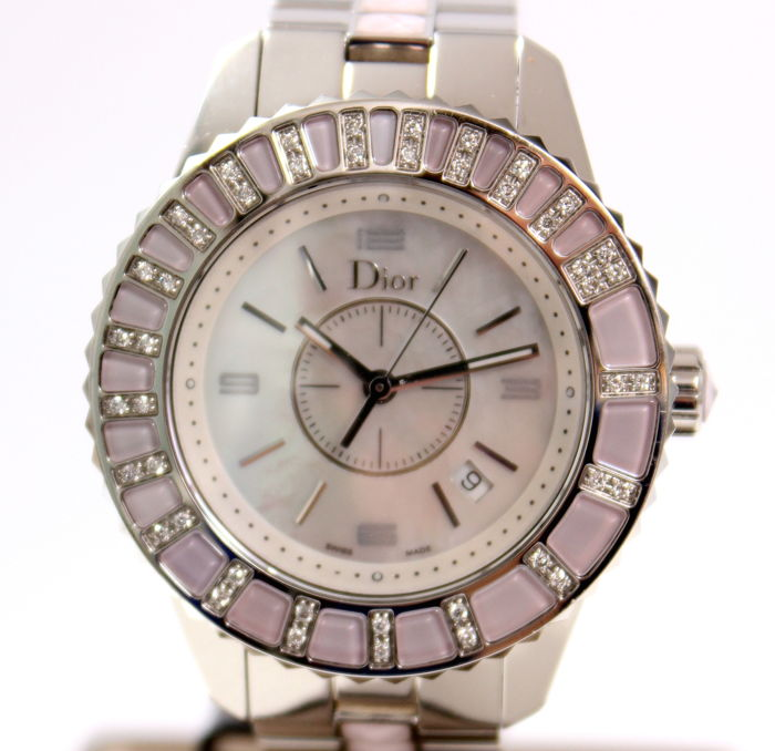 Dior Christal steel with diamond - 0.22 ct - women's watch - 2011
