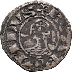 Crusader States, Antiochia - Denier nd (1163-1201) - silver