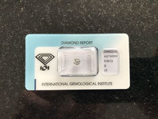 Diamond - 0.50 ct Round diamond cut D, IF