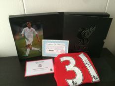 Raheem Sterling - Signed Boxed Liverpool FC shirt + signed (A4) photo + Liverpool FC Club COA.