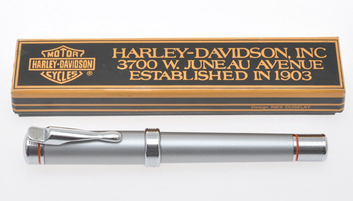 Harley Davidson Fountain pen, steel grey laquer