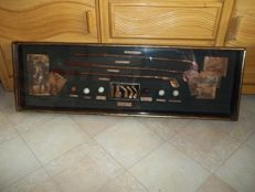 The History of Golf - very large wall display case about the history of golf - Length 106 cm - rare.