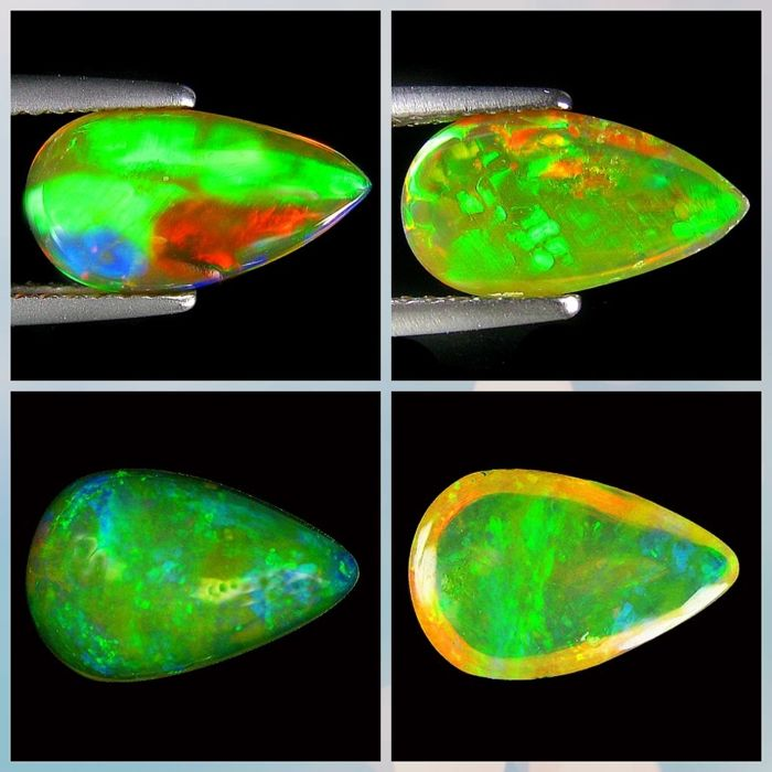 Lot of Opal Pear  Cabochon - 2.71ct (2)