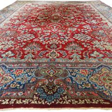 Semi antique Kerman - 357 x 282 cm - XL eye-catcher - Persian carpet in beautiful, worn condition - with certificate.