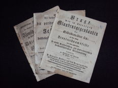 Lot with 3 pamphlets