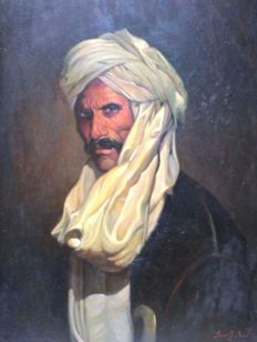 Said Saadi (20th century) - Arab man figure