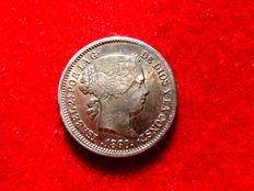 Spain - Isabel II (1833-1868) one silver real - Madrid 1860