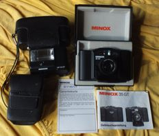 Old camera Minox 35 GT in box + Minox MF 35 ST flash
