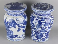 Two Chinese porcelain hockers – China – late 20th century