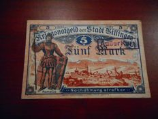 Germany / Austria - collection with 429 EMERGENCY CURRENCY notes in a small album, loose and on stock cards