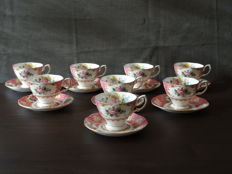 Royal Albert Lady Carlyle 8 cups and saucers Bone China England