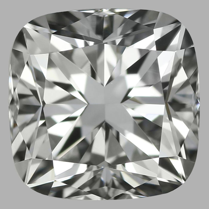 0.80Carat Cushion  cut Diamond, F VVS2 , Cert: GIA -Serial-JD1731