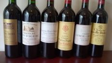Nineties Red Bordeaux, 6 bottles from 6 different regions & 6 different years