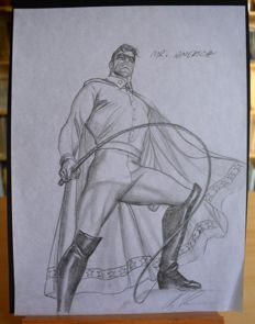 Original Sketch by Alex Ross - DC Comics - Mr. America