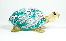 Livio Campanella (Campanella) - Millefiori and Gold Turtle Sculpture