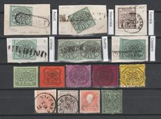Historic States of Italy – Small selection of stamps and cancellations