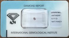 Natural Fancy Grey-Pink Diamond 0.11 ct  with IGI cert *** no minimum price***