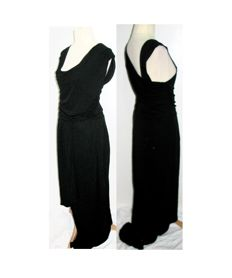 Hugo Boss - exquisite black evening gown, draped Grecian style