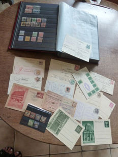 Germany - allied occupation - postal items - block - in stamp book