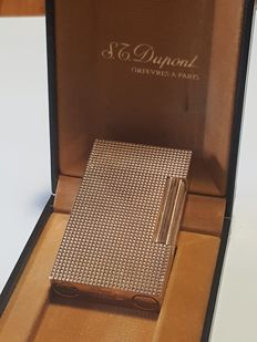 Lighter S.T.  DuPont line 2 gold plated, large version, complete with box