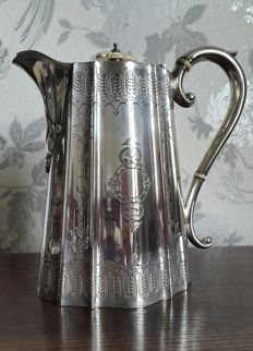Beautiful decorated Victorian teapot, silver -plated by John Round & Sons