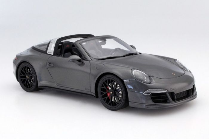 GT-Spirit - Scale 1/18 - Porsche 911 (991) Targa GTS 2015  - Grey Metallic