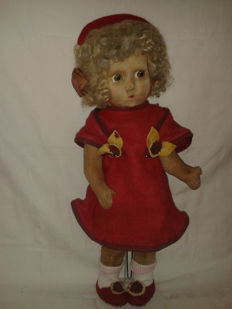 Old rag doll from the 30s, Lenci?....Italy?