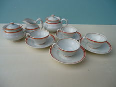 Peter Regout Tea Service Orange Fillet