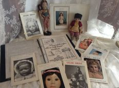 Two dolls from the 1940s and many patterns for antique dolls to create the most beautiful doll dresses