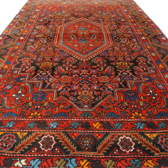 "Hamadan - 211 x 137 cm. - ""Persian carpet in beautiful condition"" - With certificate."