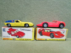 Dinky Toys - Scale 1/43 - Lotus Europa No.218 and Alfa Romeo O.S.I SCARABEO No.217
