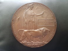 Ww1 Memorial Plaque ( Death Penny )