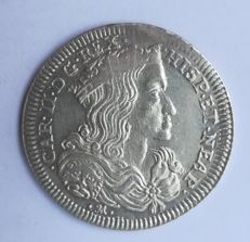 Kingdom of Naples – Carlino 1699 Carlo II – silver