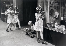 Ruth Orkin (1921-1985) - 'Comic Book Readers, NYC', 1948 & 'Photographers with Little Girl, NYC', 1947