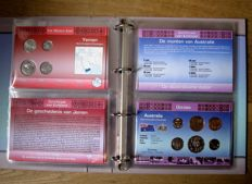 Middle East and OCeania - Coin sets 'Coins of the World' (15 different sets) in album