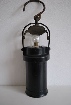 Antique, original English miner's lamp - CEAG Ltd Barnsley Yorks England, ca. 1930