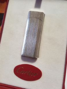 CARTIER Paris lighter in 925 solid silver (Sterling Silver) lighter, briquet, - not plated -