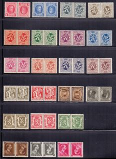 Belgium 1922/1939 - Composition inverted and publicity stamps on three plastic sheets