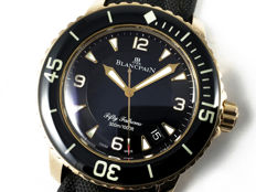 Blancpain Fifty Fathoms rose gold - Unisex watch - March 2012.