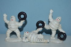 Michelin Man Figures Set of 3 Small  Cast Iron