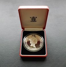 Alderney - 10 Pounds 2000 'Queen Mother' - 5 oz silver