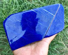 Highly polish Top Grade Royal Blue Lapis tumble - 192 x 110 x 36 mm - 1667 gm