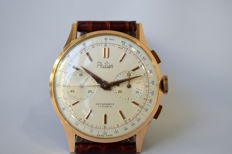 Swiss made Philier chronograph wristwatch on 17 jewels